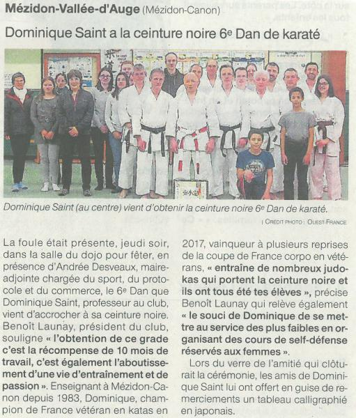article_ouest-france_6eme_dan_dominique_2018